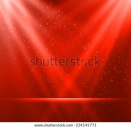 Vector  illustration Abstract magic red light background - stock vector