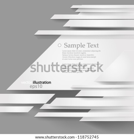 Vector illustration abstract overlapping futuristic background - eps10 - stock vector