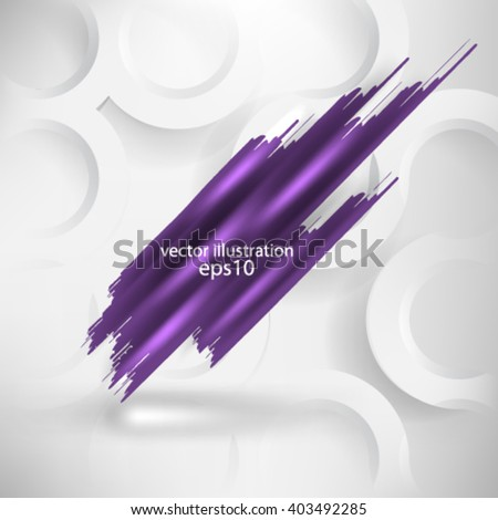 Vector illustration abstract paint template banner logo concept background design - eps10 - stock vector