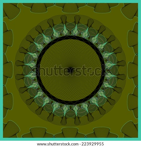 vector illustration abstract pattern guilloche