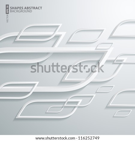 Vector illustration abstract shape 3D background design - stock vector