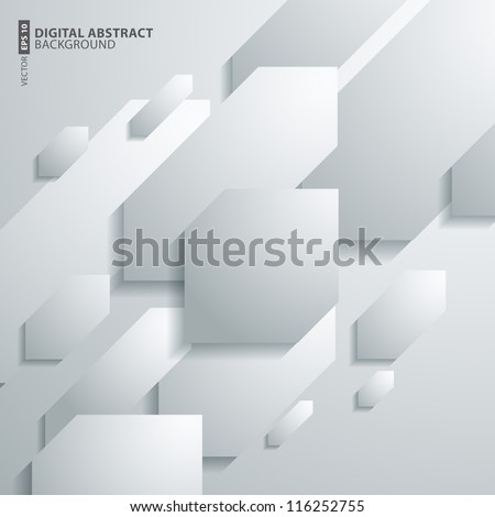 Vector illustration abstract shape 3D Design