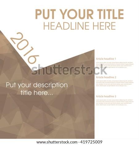 Vector illustration Abstract template brochure design - stock vector
