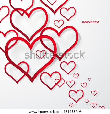 Vector illustration abstract Valentine�¢??s Day Background. - stock vector