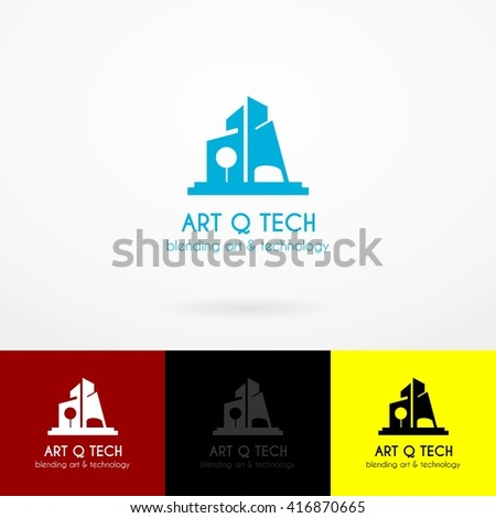 Vector Illustration architect logo icon design template element. A vector letter isolated on various background. Flat Style