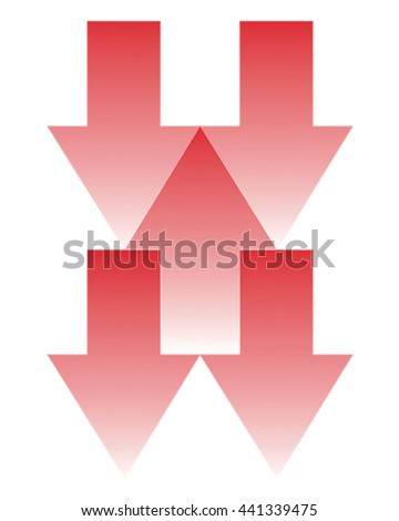 Vector Illustration Arrows going up and down. Business Icon - stock vector