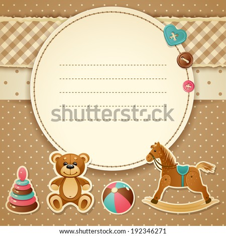 Vector illustration - Baby Shower Invitation (boy), EPS 10 - stock vector