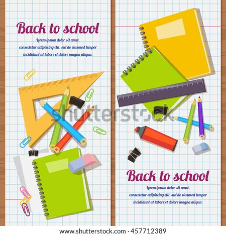 Vector illustration Back to school background - stock vector