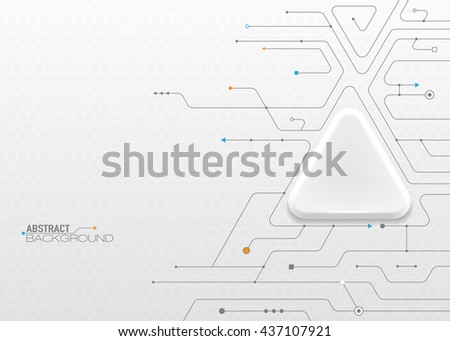 Vector illustration background of abstract communication - social media technology concept with label circles design and space for your content, business, social media, network and web design. - stock vector