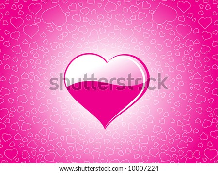 vector illustration background with hearts