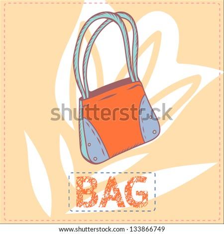 "Vector illustration ""Bag"" - stock vector"