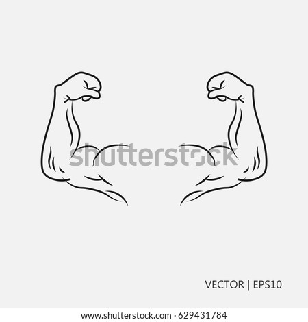 Coloring pages healthy strong ~ Vector Illustration Biceps Hand Muscles Hands Stock Vector ...