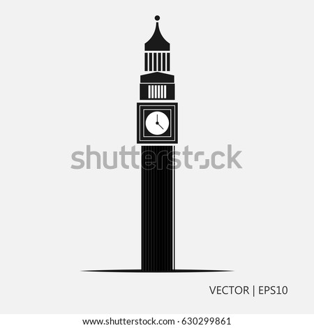 Vector Illustration Big Ben London England Stock 630299861