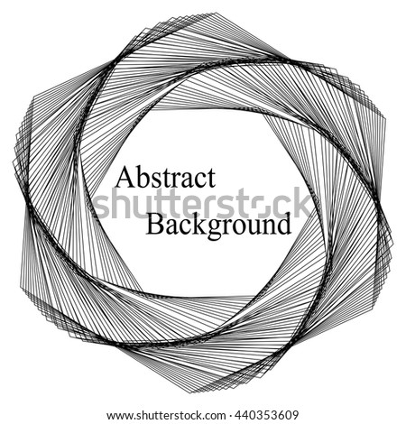 Vector Illustration.Black Template for Visiting Cards, Labels, Fliers, Banners, Badges, Posters, Stickers and Advertising Actions. Stripes Twisted in Vortex. Abstract Background - stock vector