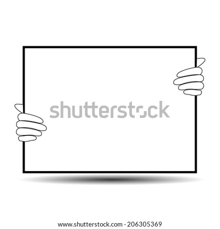 Vector illustration blank screen for your text ads - stock vector