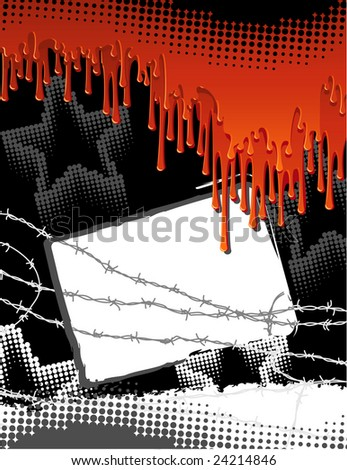 Vector illustration - blood urban background - stock vector