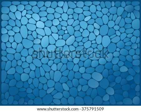 vector illustration - blue abstract mosaic stone background - stock vector