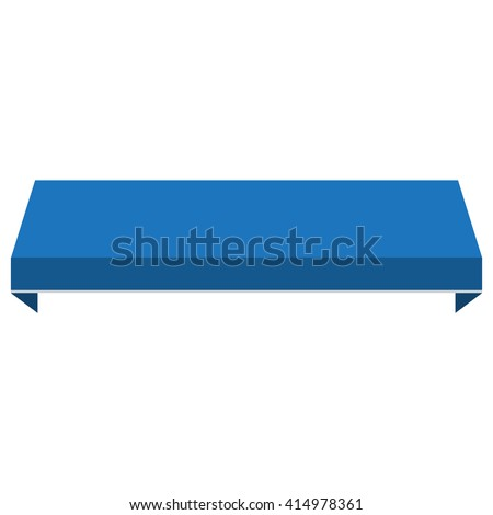 Vector Illustration Blue Shopstore Window Awning Canopy Icon