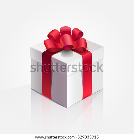 Vector illustration. Box. Present. Holiday. - stock vector