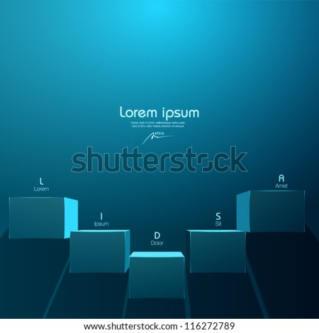 vector illustration - boxes on the wall - web design elements - stock vector