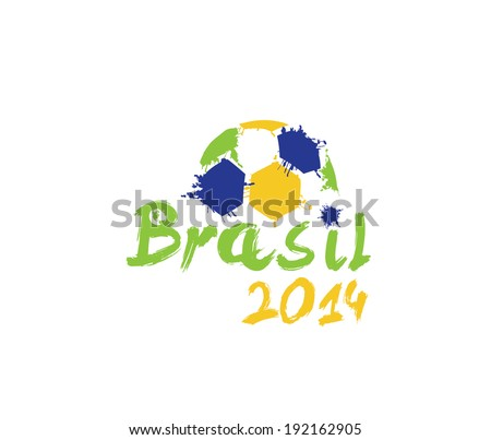 vector illustration brasil 2014 - stock vector
