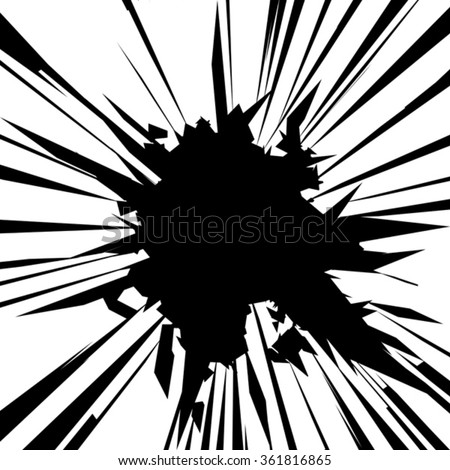 Vector illustration. Broken glass  with sharp edges background. Comic book style. Image with place for text. - stock vector