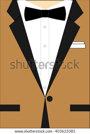vector illustration / brown suit / businessman / card /