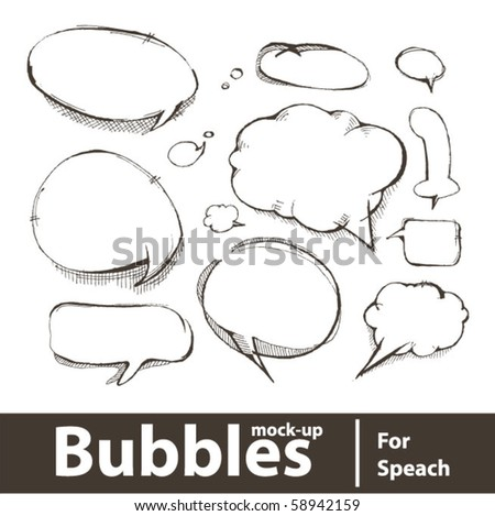 Vector illustration. Bubbles for speech - stock vector