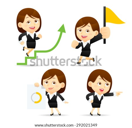 Vector illustration - Businesswoman set