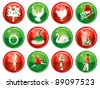 Vector Illustration Card of the 12 days of Christmas buttons. - stock vector