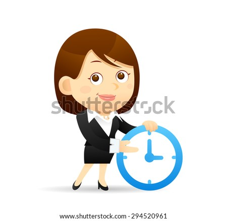Vector illustration - Cartoon businesswoman character - stock vector