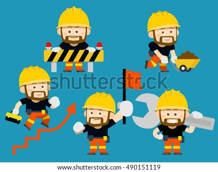Vector illustration - cartoon worker character