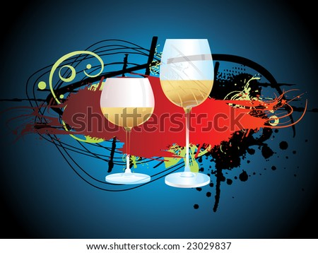 vector illustration, champagne explosion
