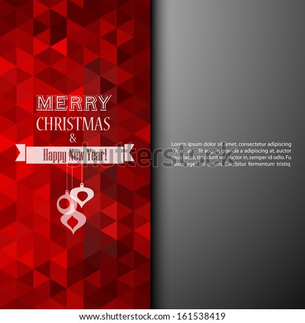 Vector illustration Christmas background. - stock vector