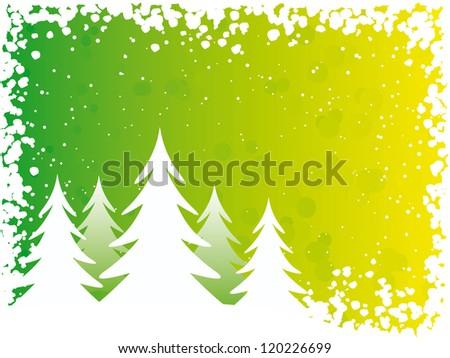 Vector illustration. Christmas trees. - stock vector