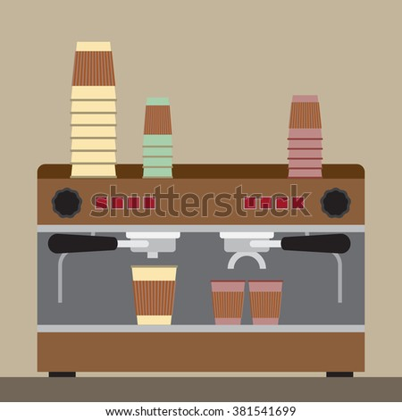 Vector illustration. Coffee machine.
