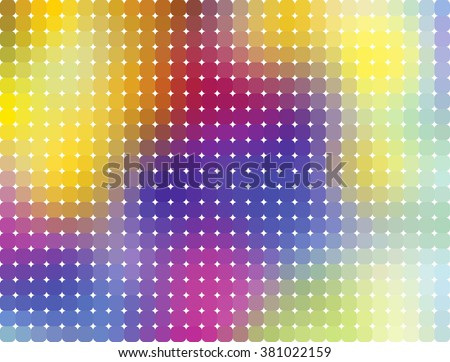 Vector illustration. Colorful Pixelated blurred and background. Vivid gradient colors. Rounded Corners Pixel mosaic. - stock vector