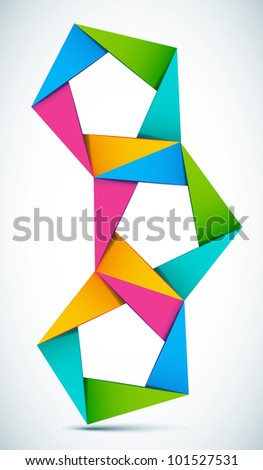 Vector illustration colorful shapes composition - stock vector