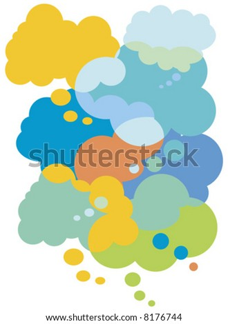 Vector Illustration Colorful thought bubbles