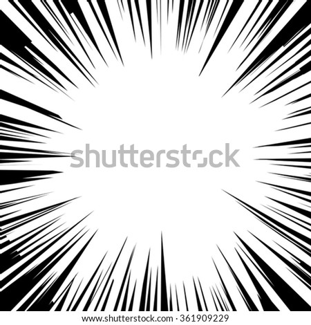 Vector illustration. Comic explosion. Graphic radial speed lines. Comic book design element. - stock vector