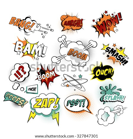 Vector illustration Comics Texts, Pop Art style. - stock vector