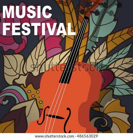 Vector illustration concept of abstract musical background design
