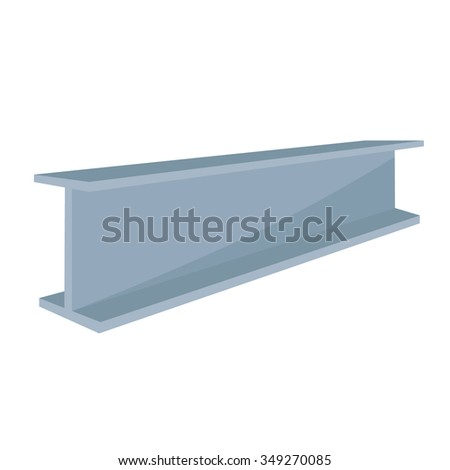 Vector illustration construction steel beam for architectural works  - stock vector