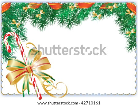 Vector illustration contains the image of  Christmas frame - stock vector