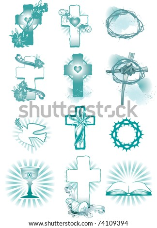 vector illustration contains the image of Easter Symbols - stock vector