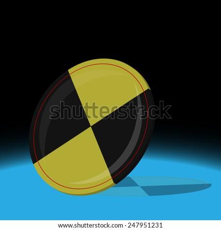 Vector illustration. Crash test sign. - stock vector