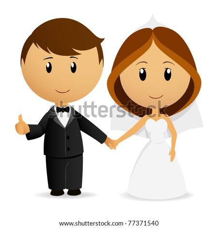 Cartoon Bride And Groom 1 Of 2 Stock Vector 31058197 Shutterstock