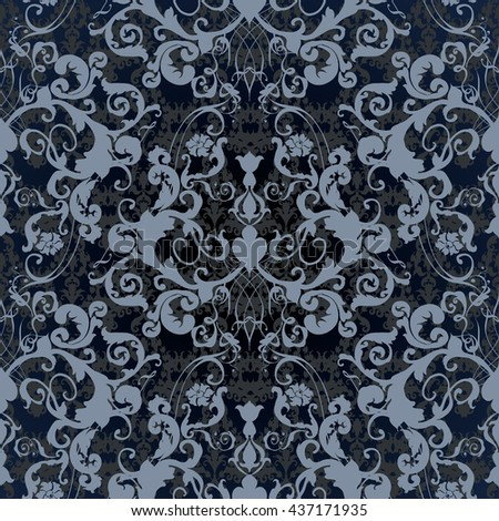 Vector illustration. Damask seamless floral pattern. luxury texture for wallpapers