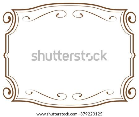 vector illustration. decorative frame on white background - stock vector