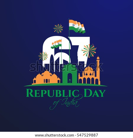 Vector illustration republic india on january stock vector for 26 january decoration